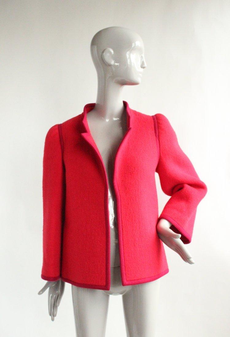 Lanvin Haute Couture Red Wool Coat, ca. 1970's - 2