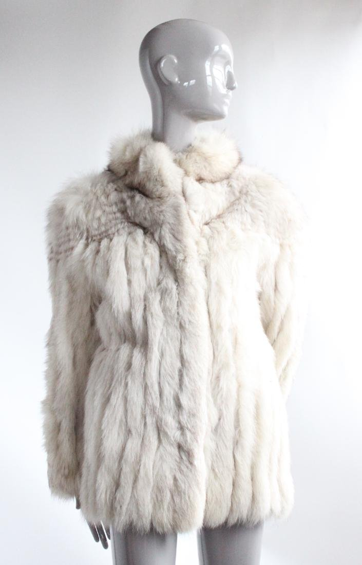 Saga Fur Natural Blue Fox Coat, ca. 1980's