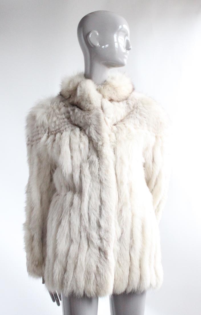 Saga Fur Natural Blue Fox Coat, ca. 1980's
