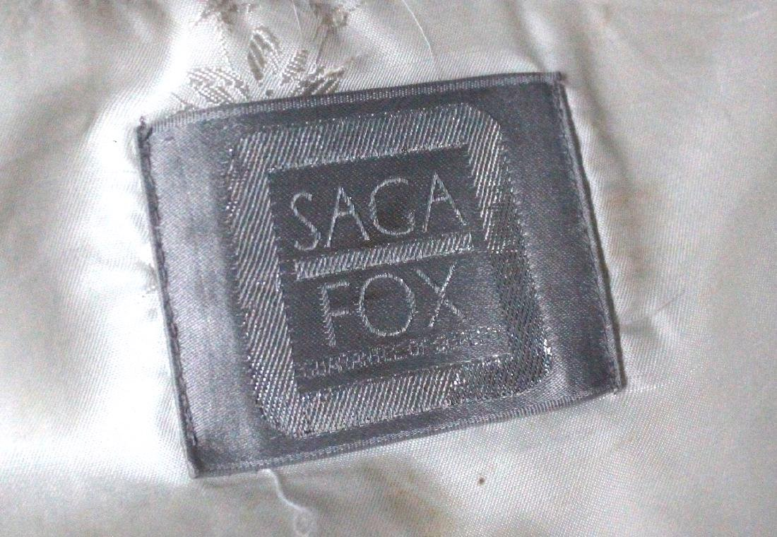 Saga Fur Natural Blue Fox Coat, ca. 1980's - 3