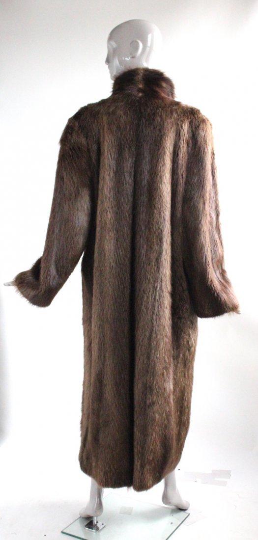 Park Place Furs Beaver Fur Full Length  Coat, 1980s - 2