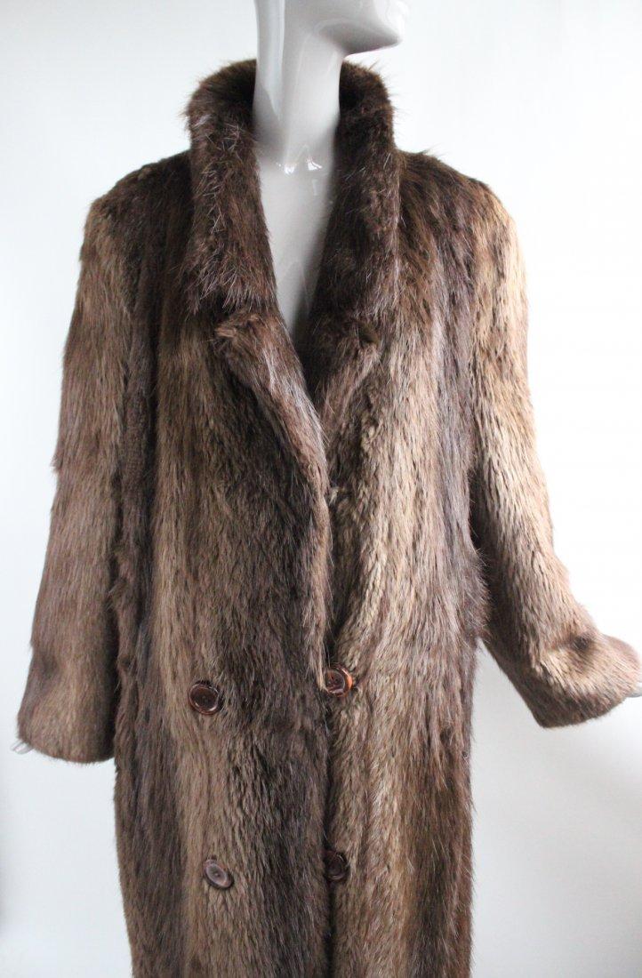 Park Place Furs Beaver Fur Full Length  Coat, 1980s - 3