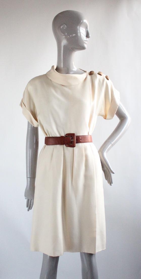 Yves Saint Laurent Haute Couture Silk Dress, S/S 1991