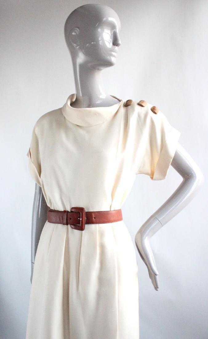 Yves Saint Laurent Haute Couture Silk Dress, S/S 1991 - 2