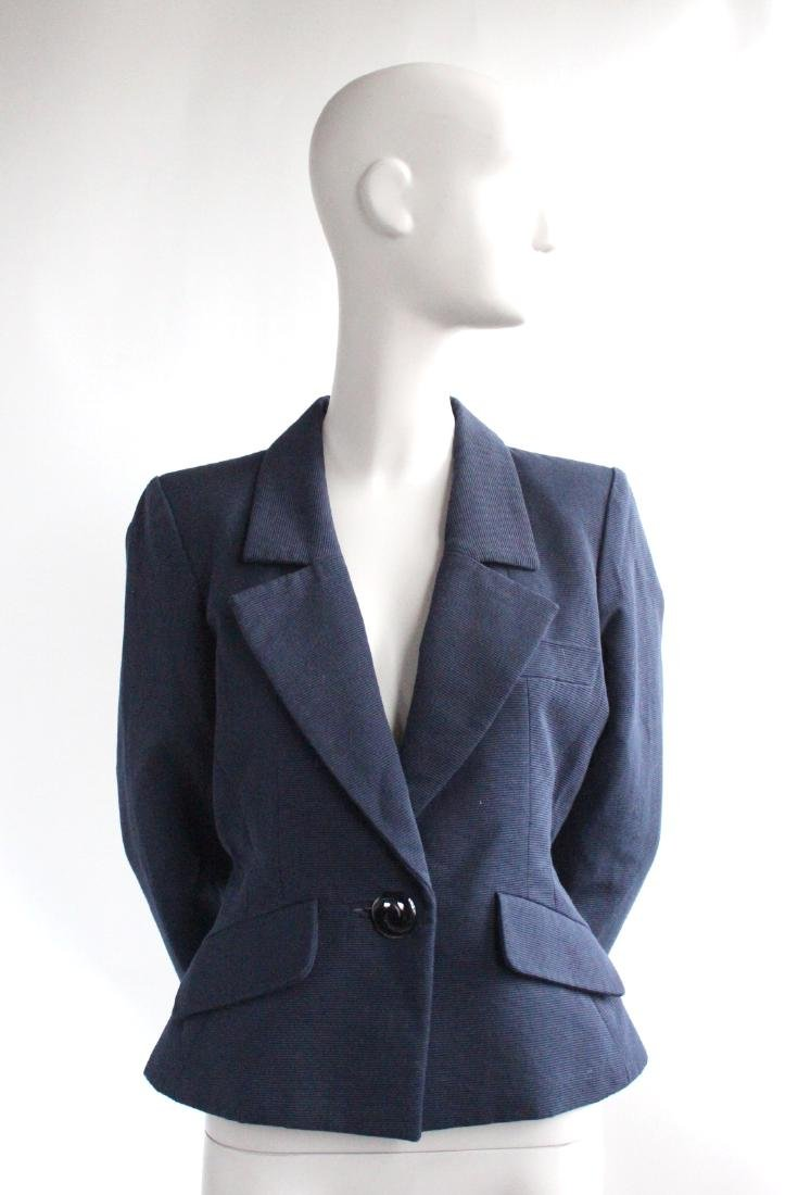 Yves Saint Laurent Rive Gauche Blue Jacket, 1990's