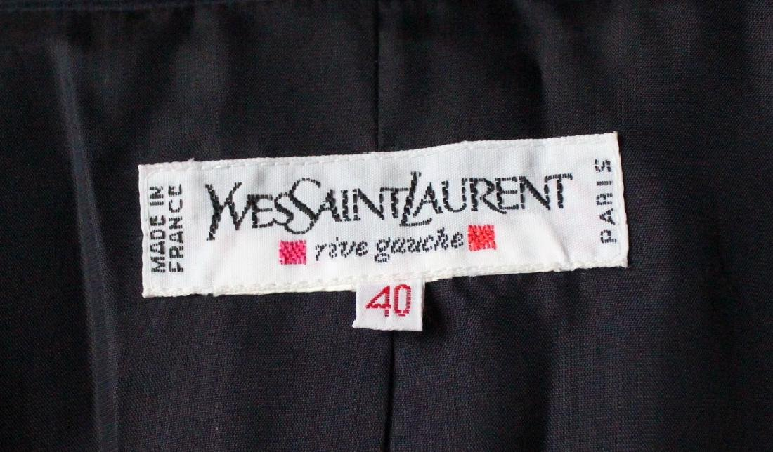 Yves Saint Laurent Rive Gauche Blue Jacket, 1990's - 3