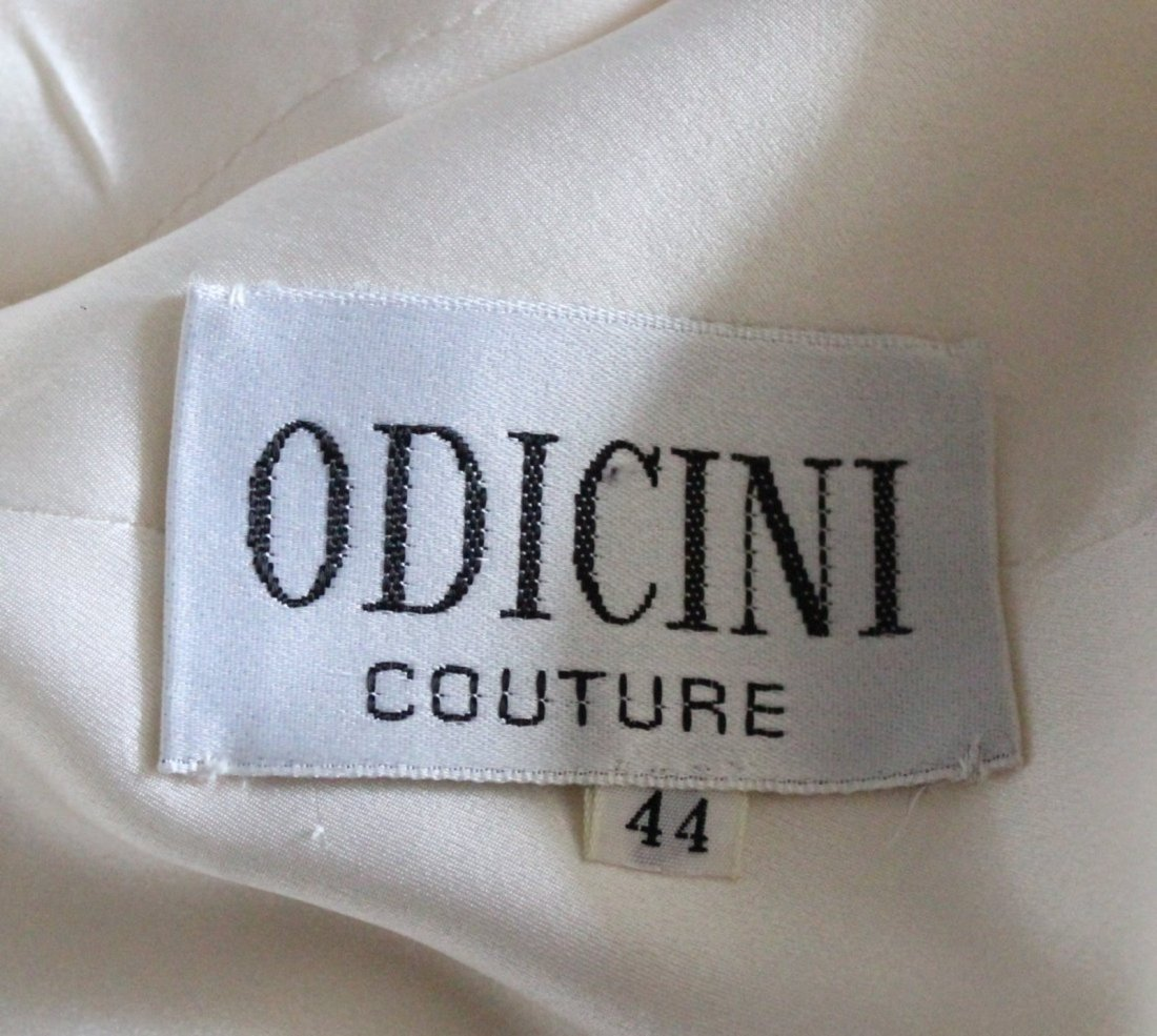 Odicini Couture Embroidered Beige Suit, ca. 1990's - 6