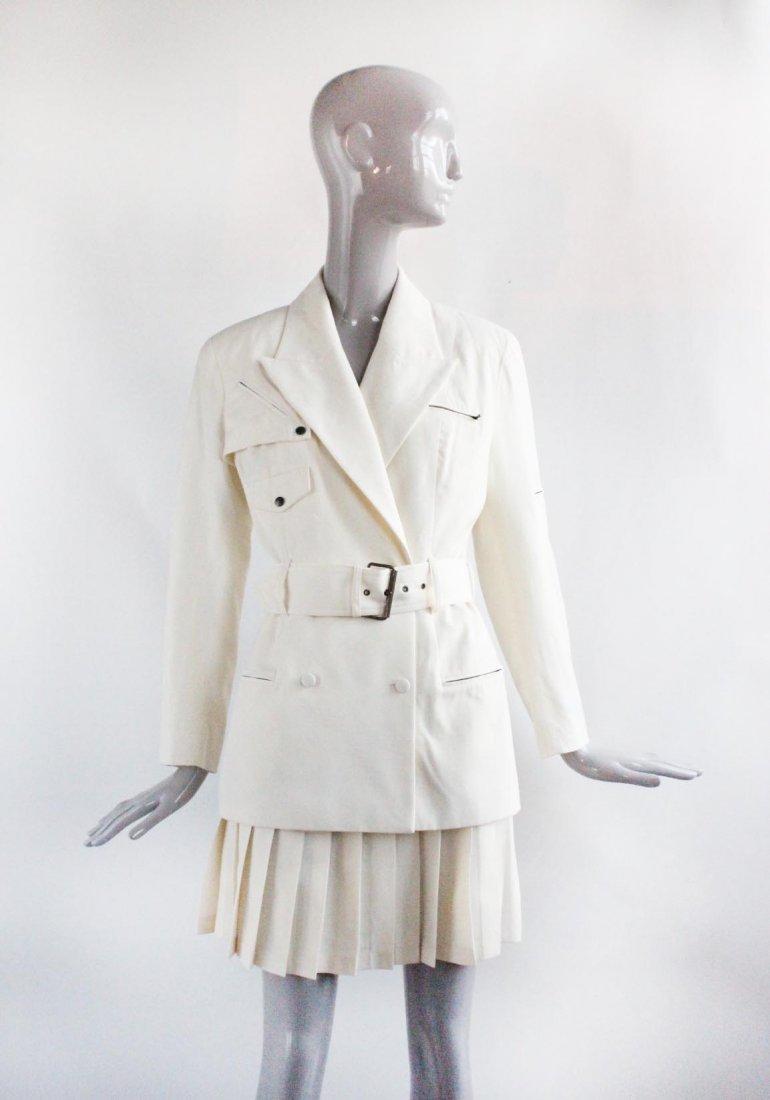 Plein Sud Beige Wool Suit, ca. 1990's