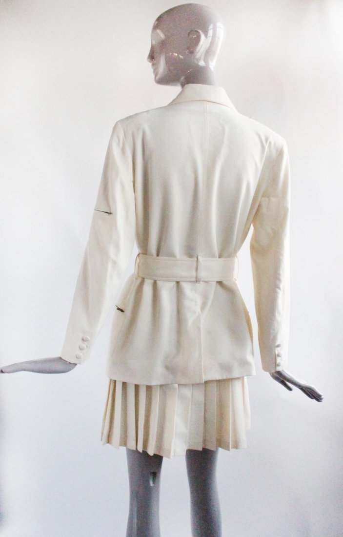 Plein Sud Beige Wool Suit, ca. 1990's - 2