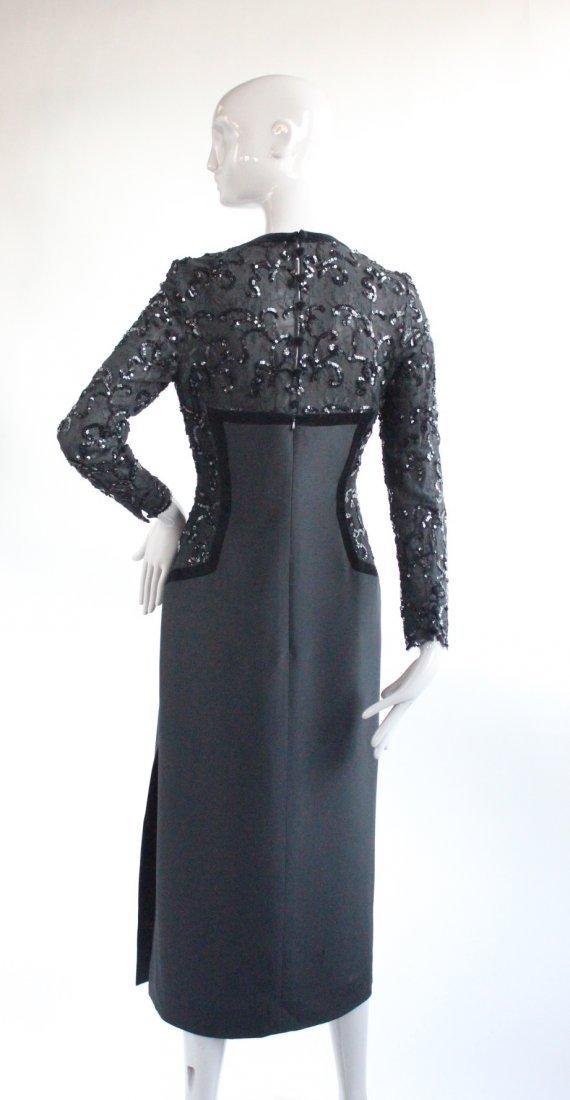 Escada Couture Black Evening Dress, ca. 1990's - 3