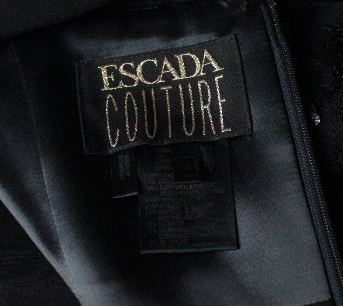Escada Couture Black Evening Dress, ca. 1990's - 4