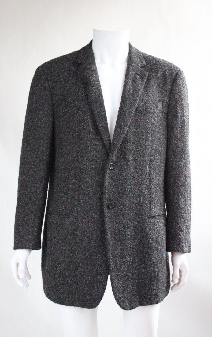 Giorgio Armani Baby Alpaca & Silk Gray Men's Jacket