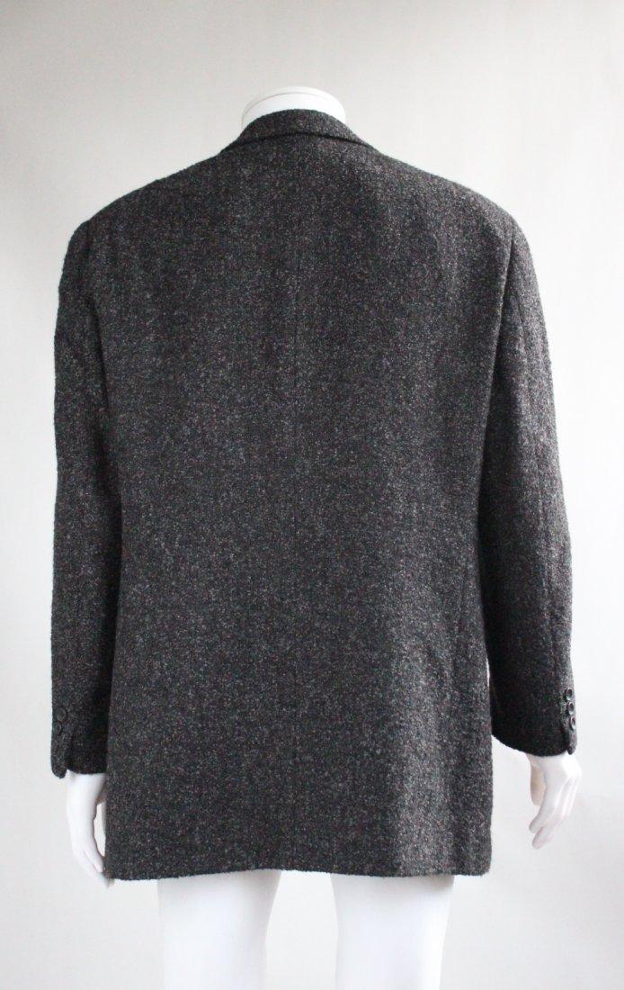Giorgio Armani Baby Alpaca & Silk Gray Men's Jacket - 3