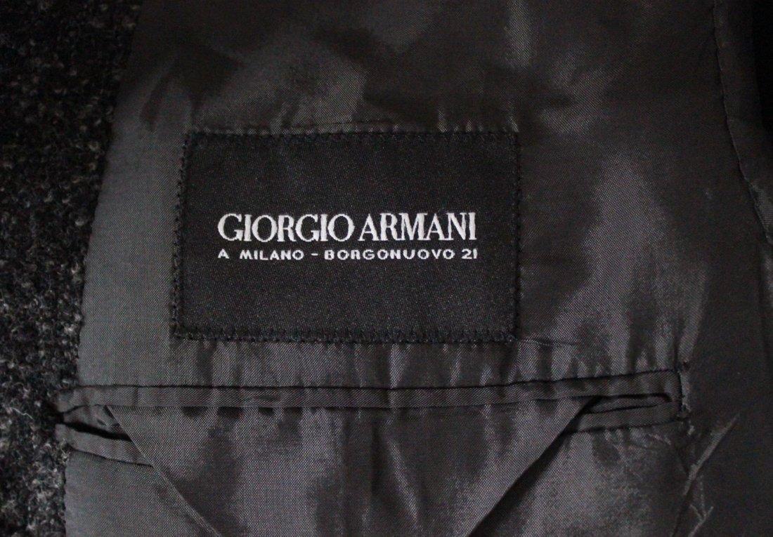 Giorgio Armani Baby Alpaca & Silk Gray Men's Jacket - 4