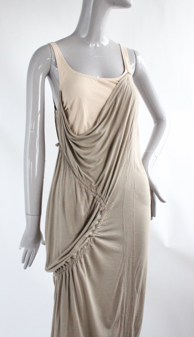 Hussein Chalayan Taupe Jersey Dress, ca.2003