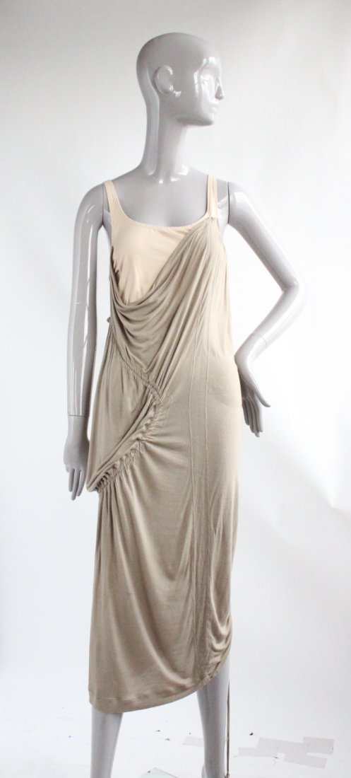 Hussein Chalayan Taupe Jersey Dress, ca.2003 - 2