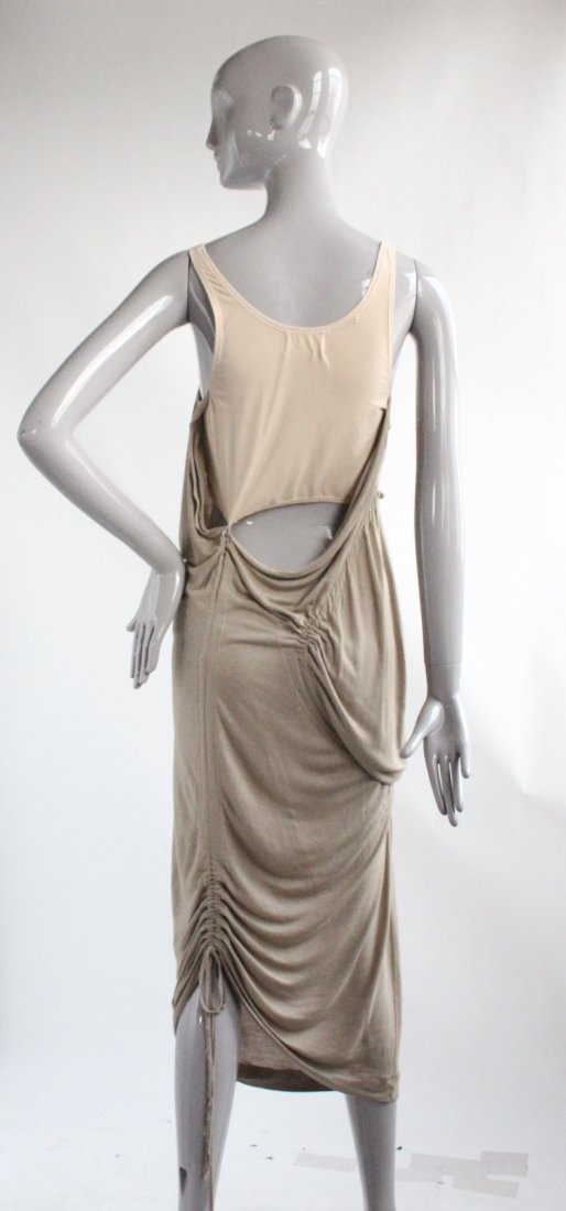 Hussein Chalayan Taupe Jersey Dress, ca.2003 - 3