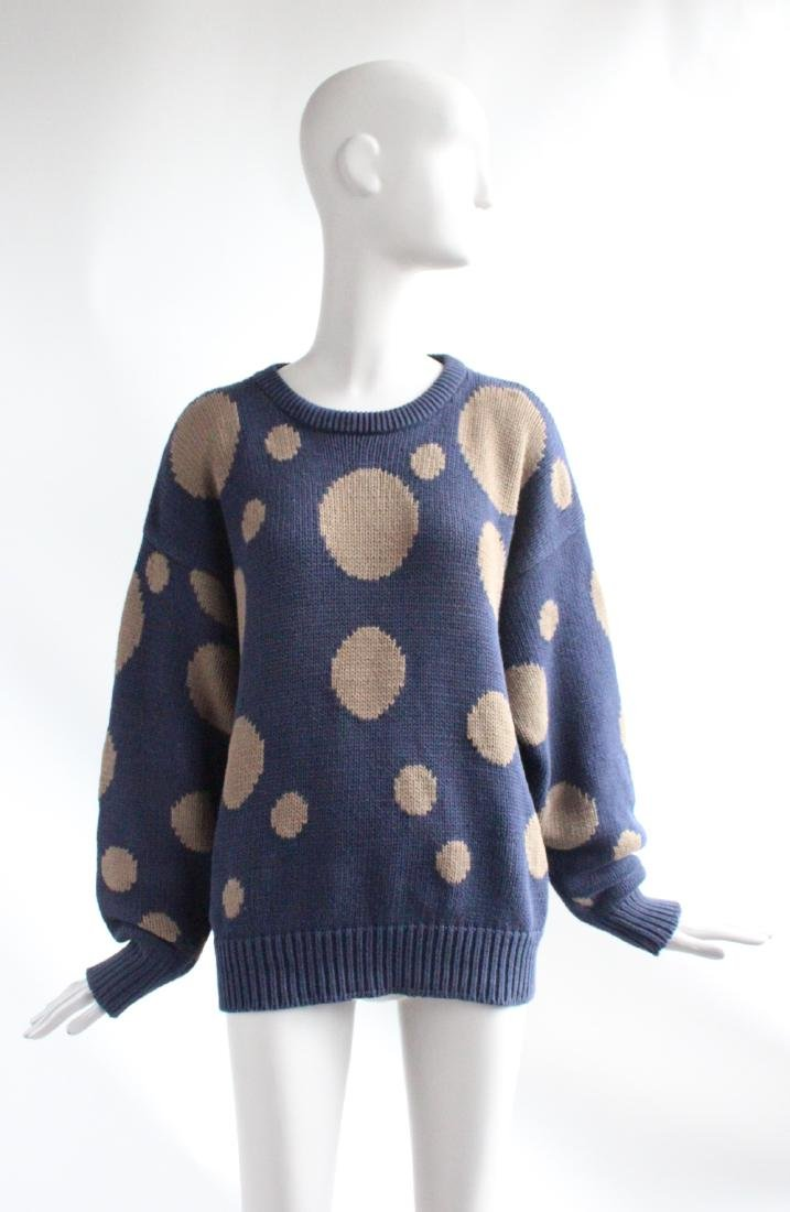 Perry Ellis by Marc Jacobs Polka Dot Sweater, F/W 1991