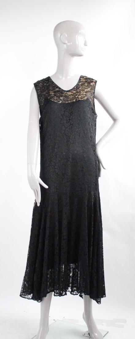 Maria La Tour Black Lace Dress, ca. 1920's