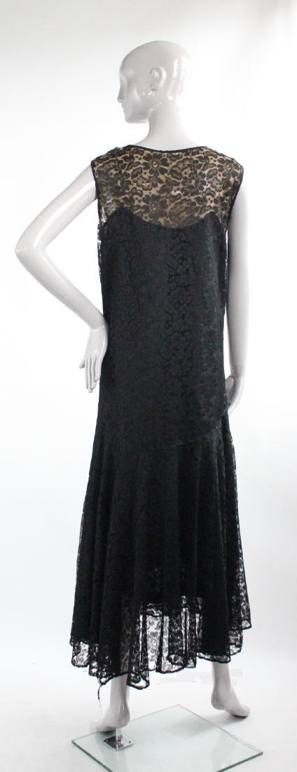 Maria La Tour Black Lace Dress, ca. 1920's - 2