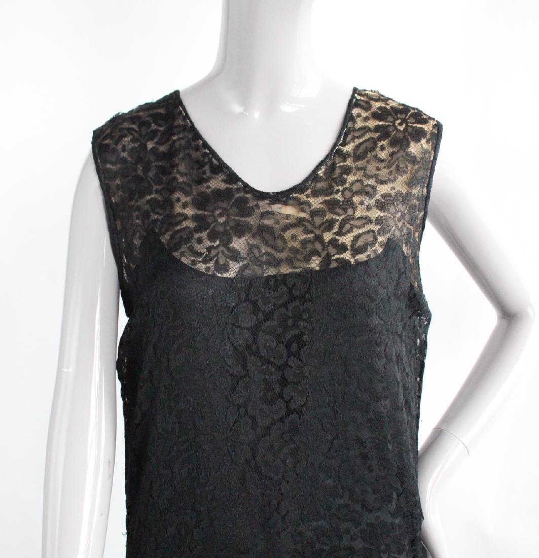 Maria La Tour Black Lace Dress, ca. 1920's - 3
