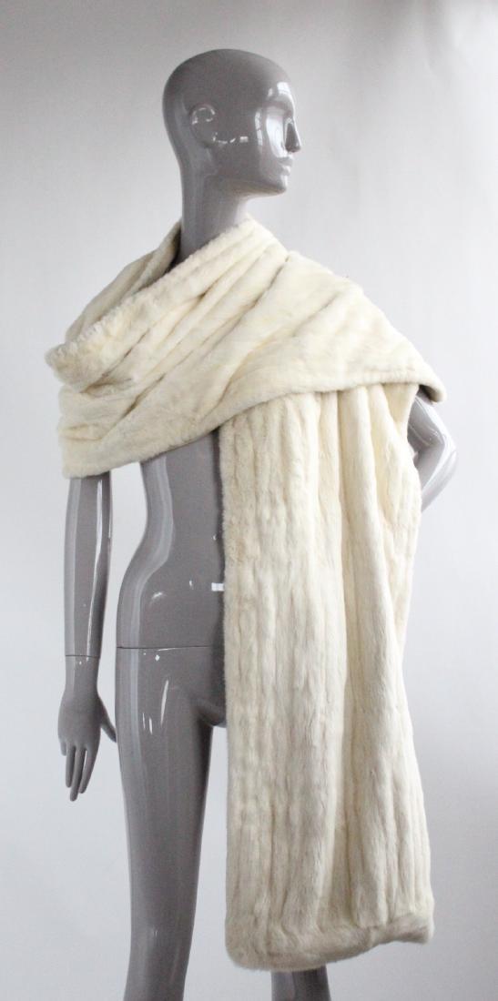 Benn Mandel New York White Ermine Fur Stole, ca. 1950's