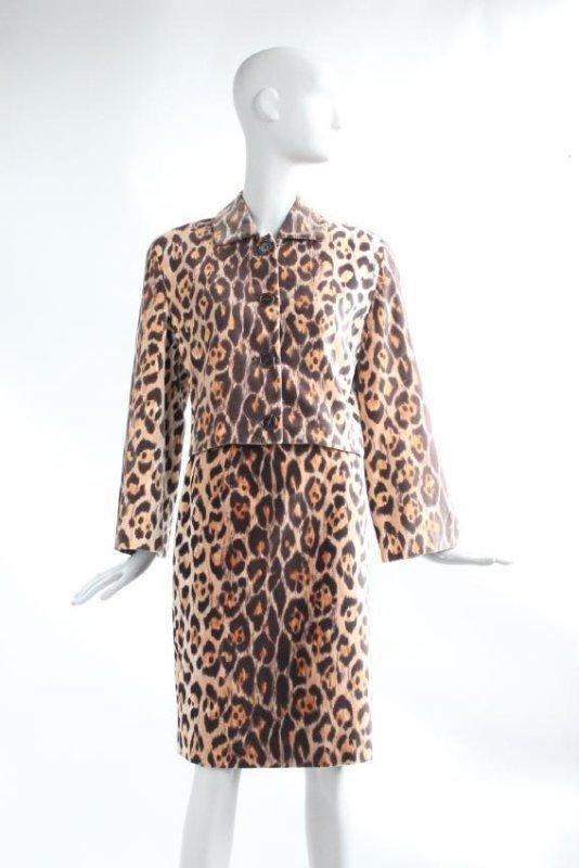 Perry Ellis Jaguar Print Velvet Suit, F/W 1987