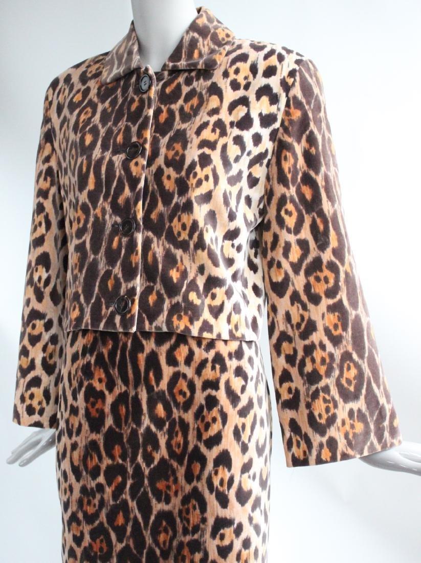 Perry Ellis Jaguar Print Velvet Suit, F/W 1987 - 2
