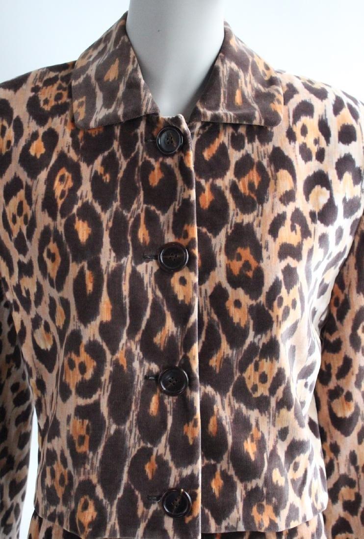 Perry Ellis Jaguar Print Velvet Suit, F/W 1987 - 3