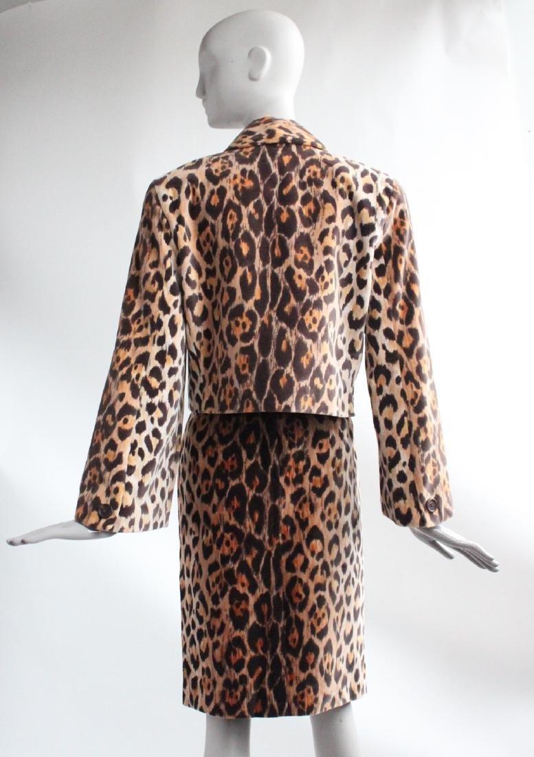 Perry Ellis Jaguar Print Velvet Suit, F/W 1987 - 4