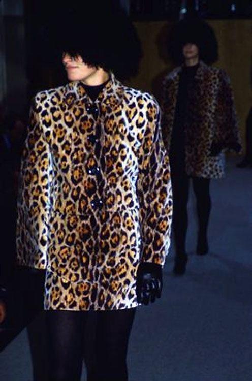 Perry Ellis Jaguar Print Velvet Suit, F/W 1987 - 7