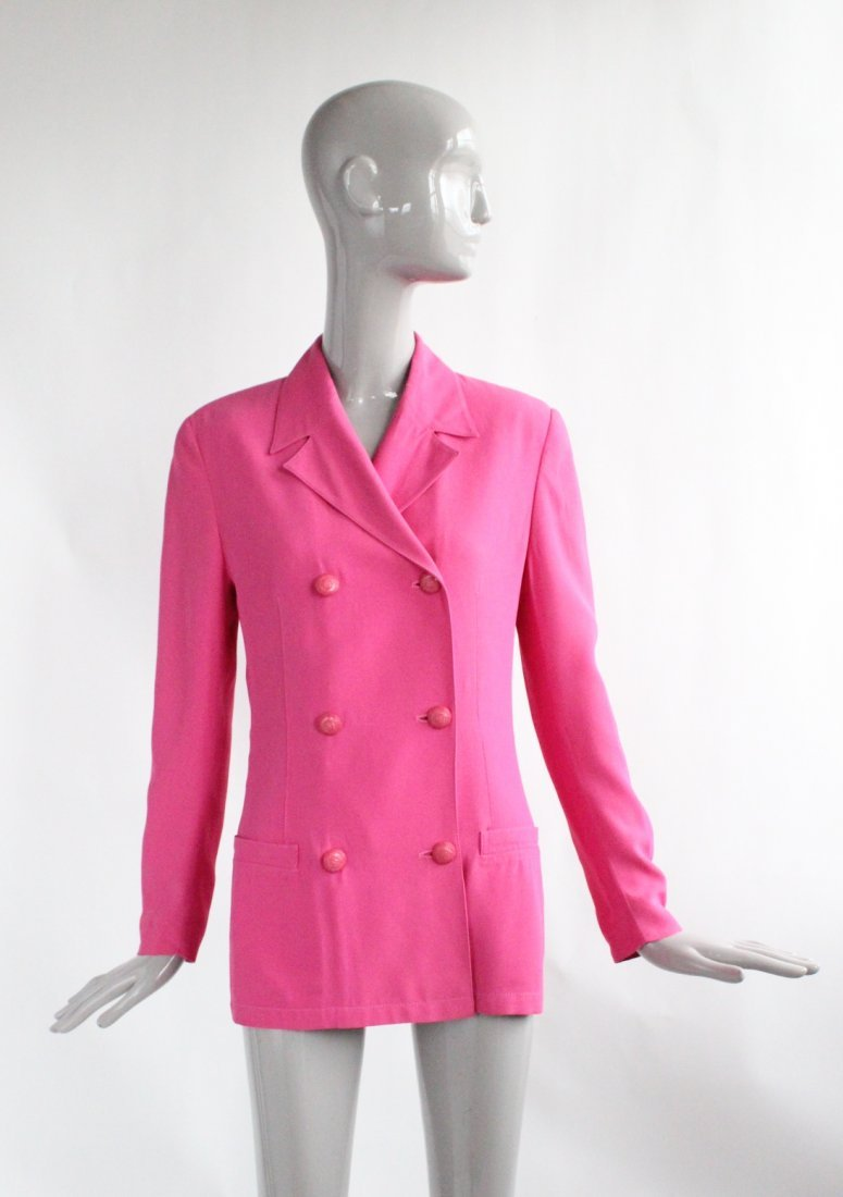 Gianni Versace Double Breasted Pink Jacket c.1990's