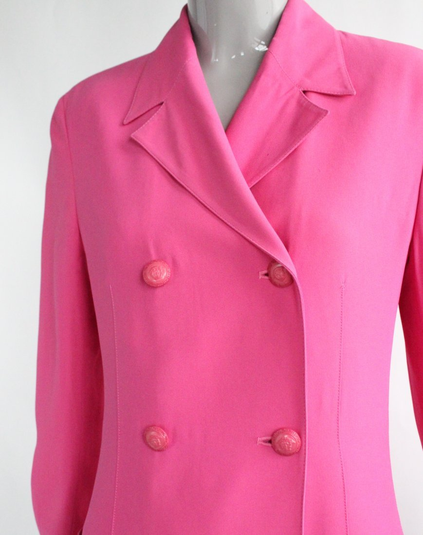 Gianni Versace Double Breasted Pink Jacket c.1990's - 3