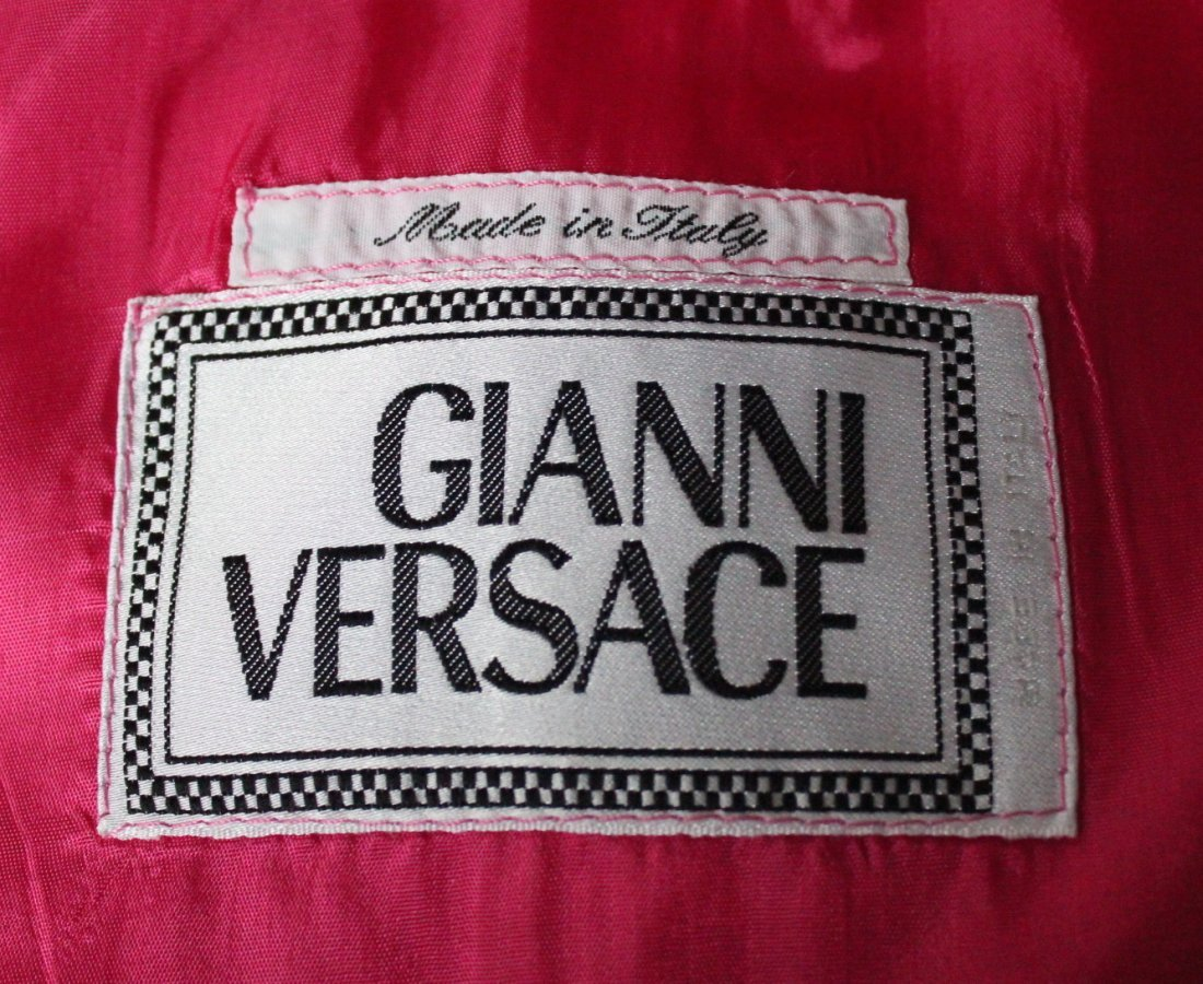 Gianni Versace Double Breasted Pink Jacket c.1990's - 4
