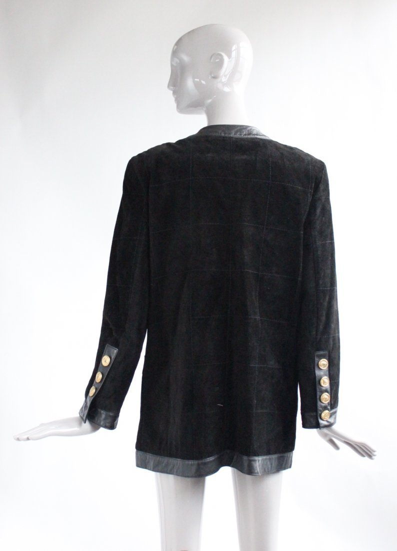 Saks Fifth Avenue Melanzona Black Suede Jacket, c1980's - 2