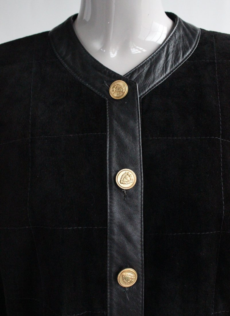 Saks Fifth Avenue Melanzona Black Suede Jacket, c1980's - 3