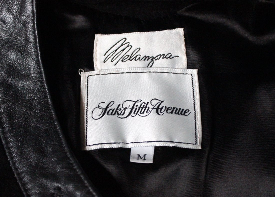 Saks Fifth Avenue Melanzona Black Suede Jacket, c1980's - 4