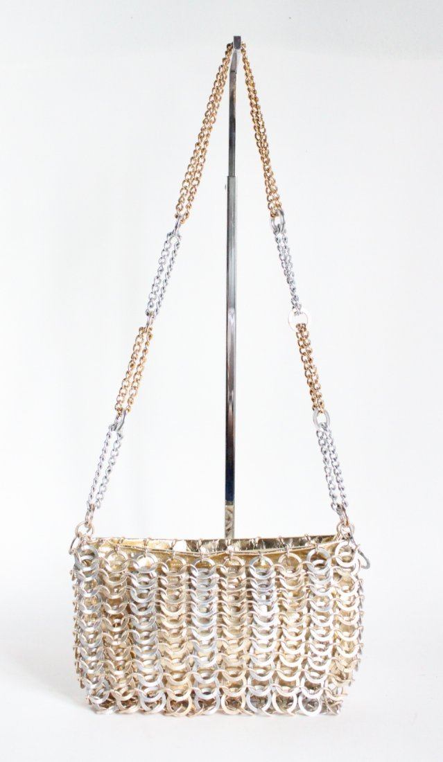 Paco Rabanne for Walborg Gold & Silver Metal Bag c1960s