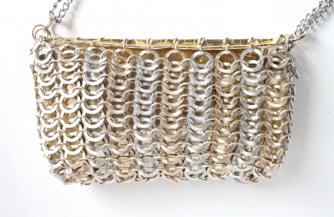 Paco Rabanne for Walborg Gold & Silver Metal Bag c1960s - 2