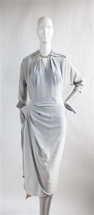 1940's Light Blue Asymmetrical Dress