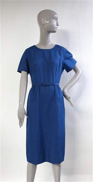 1950's Blue Linen Dress