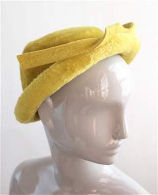 Galanos Fur Felt Hat, 1950's