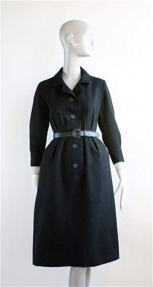 Christian Dior Demi Couture Black Dress, 1950's