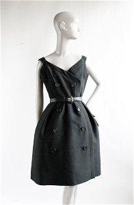 Christian Dior New York Black Cocktail Dress, 1950's