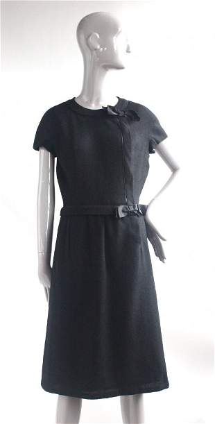 Marshall & Fields Shop 28 Black French Dress, 1960s