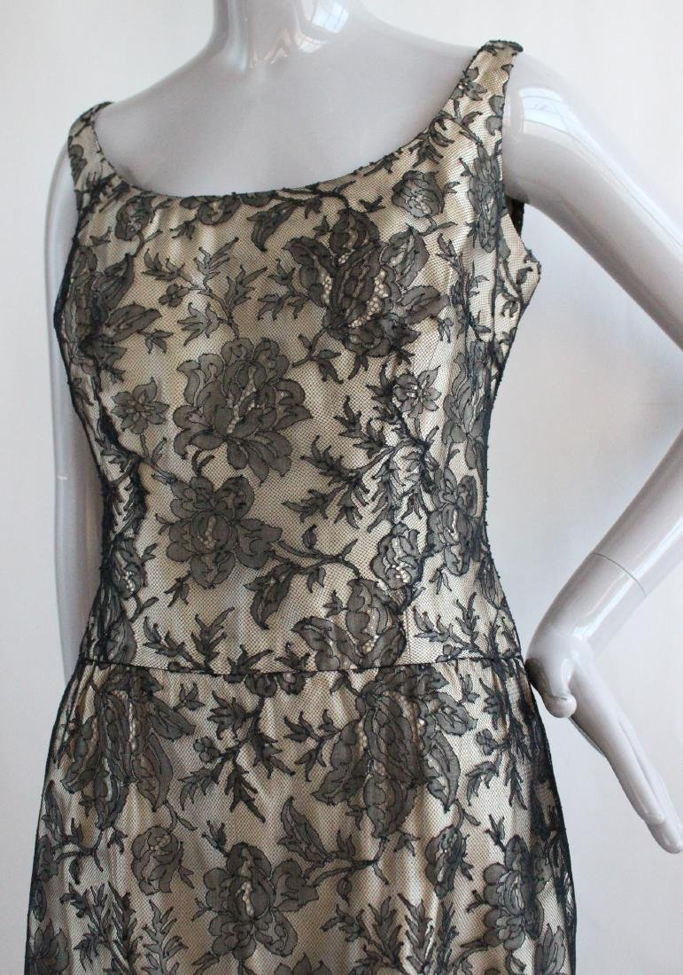 Alice Schweitzer Couture Black Lace Dress, 1960's - 2
