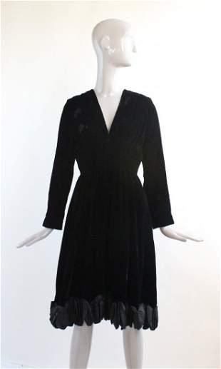 Romantica by Victor Costa Velvet Dress, 1960's