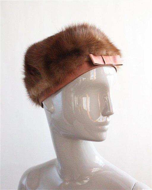 b7d37e985 B Altman Brown Mink Fur Hat, ca. 1960s - Dec 16, 2018   Hoboken ...