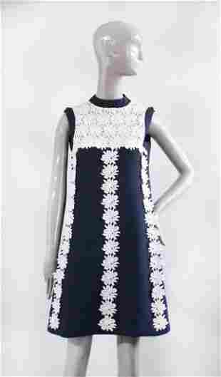 Creations Setalys Paris Wool & Lace Dress, ca.1960s