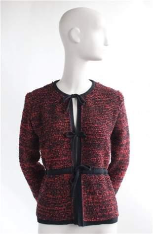 Sonia Rykiel Red & Black Knit Jacket, ca. 1970s